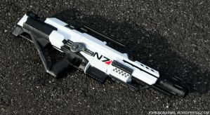 Artic Mass Effect Nerf Rifle by JohnsonArmsProps