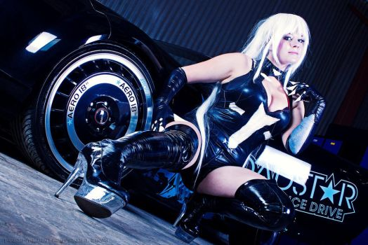 Hyperdimension Neptunia Black Heart II + Car by StarletTiger