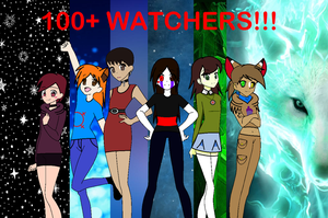 Thanks for 100+ Watchers!!! by NikkiFireFly369