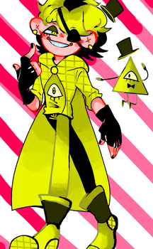 Bill on gravity falls by Scaopin2003