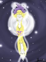 Renamon Moonrise by EmeraldSora