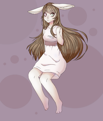 bun bun (might sell this character) by skylight-beat