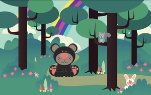 .:The Bear in the Woods:. by purpleoctopussy