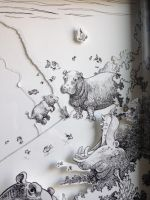 Tag With Hippos_BG Detail by artofMilica