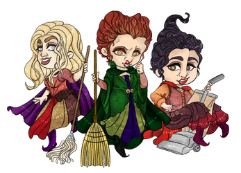 Sanderson Sisters by ChaoticallyWicked