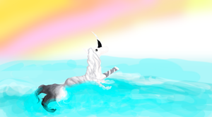 [doodle] Deimos in the water by mssmrphs