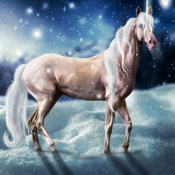 Snowy Unicorn Hee Premade by VIP-EquineArt