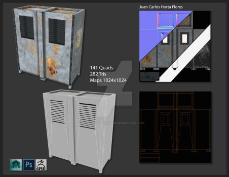 Industrial locker modeling and texturing by Carlitoxmaister