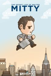 The secret life of the Kawaii Walter Mitty by SquidPig