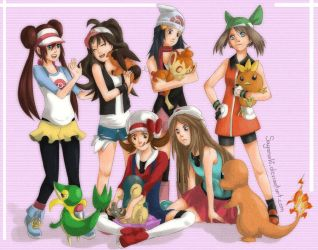 Pokegirls by Sajanaki