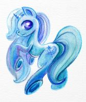 blue colors of Trixie by Maytee