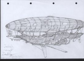 Jackal airship concept by chaos-sandwhich