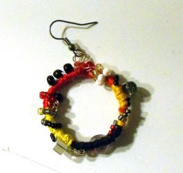 Wrapped and Beaded Earring by mintdawn