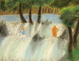 Concept - Alice in Waterfalls by Heliodus