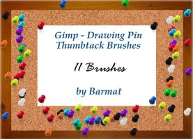 GIMP brushes Thumb Tacks by barmat