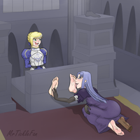 Saber foot worshiped and tickled by LGHX