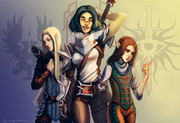 Dragon Age OCs by Carrieli