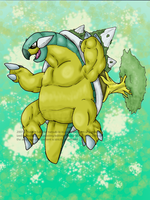 Shiny Torterra by Inkblot-Rabbit