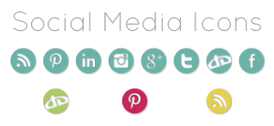 Social media icons by apricot-dreaming