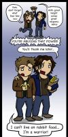 SPN: Finally, a use for rabbit food... by blackbirdrose
