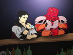 Commission- So Tahu walks into a bar by NickOnPlanetRipple