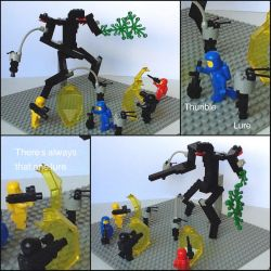 Lego Fighting the Eidolon by Leonidas666