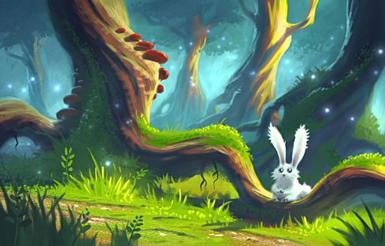 Bunny In The Woods by JordanKerbow