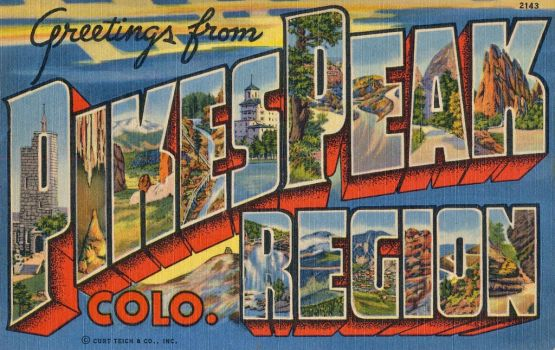 Large Letter Postcard - Pikes Peak Region, CO by Yesterdays-Paper