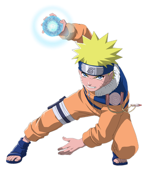 Teen Naruto Rasengan - Lineart Colored by DennisStelly