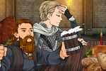 Tormund and Brienne at Winterfell by ThomasAnime