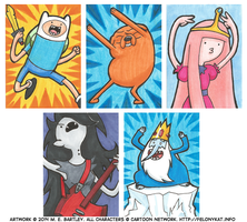 Adventure Time Art Cards by generalmanx