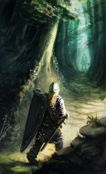 Sir Gawain and the Green Knight by GoblinHood