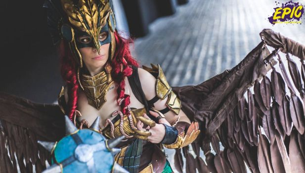 HawkGirl cosplay Injustice by E2cosplay