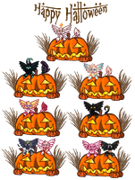 Halloween Gifts YCH (clickfullview) by 3DAri