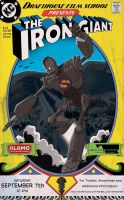 Iron Giant Alamo Drafthouse Poster by NHMorrissey