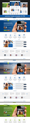 Summer template (3x free .PSD files) by JakubSpitzer