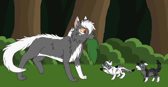 Moss Patrol with Whitepatch by StormHollie