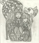 A Mother and Her 2 daughters and a Pet by AKB-DrawsStuff