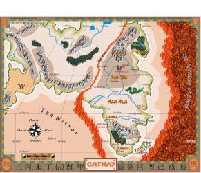 7th Sea Map of Cathay by Guardnacho