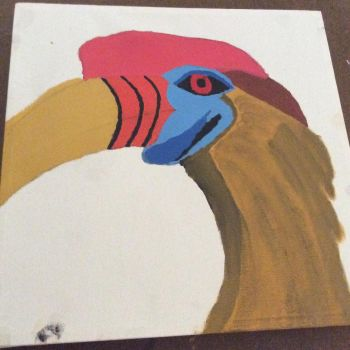 Knobbed Hornbill Phase 2 by Stitch1290