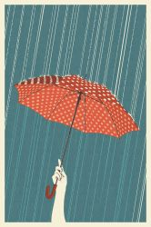 Umbrella Letterpress by AlixBranwyn