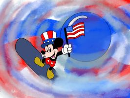 Mickey Mouse and Whirlpool Happy 4th of July by DisneyJared23