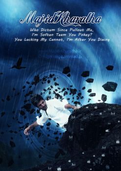 Unsettled poster (Majid Kharatha poster) by Mohammad-GFX