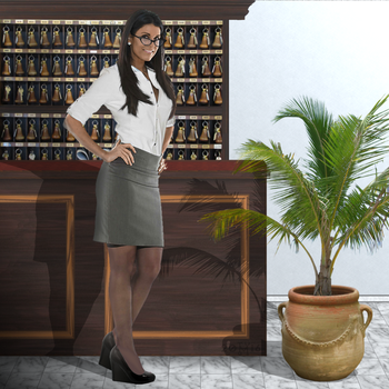 Frida the secretary by hippo2
