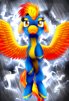 In The Midst of a Thunderstorm by Scarlet-Spectrum