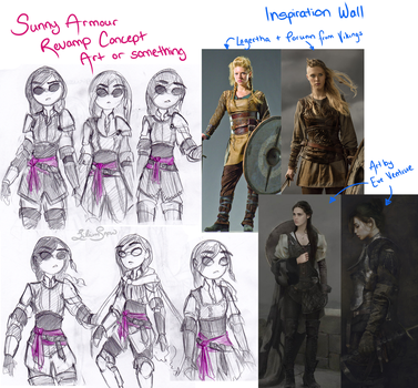 Sunny Armour Revamp Concept Art or something by LiliumSnow