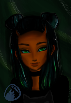 Blue and Green hair  With Speedpaint video by ultimate-hedgehog