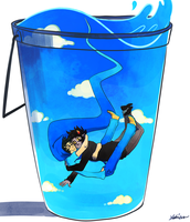 John and Karkat falling in the what by The-EverLasting-Ash