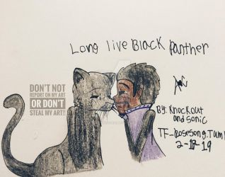 Long live Black panther by knockoutandsonic