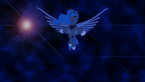 MLP - Luna in space wallpaper by Warmo161
